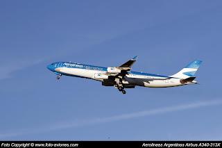 Avión Airbus A340 LV-CSD