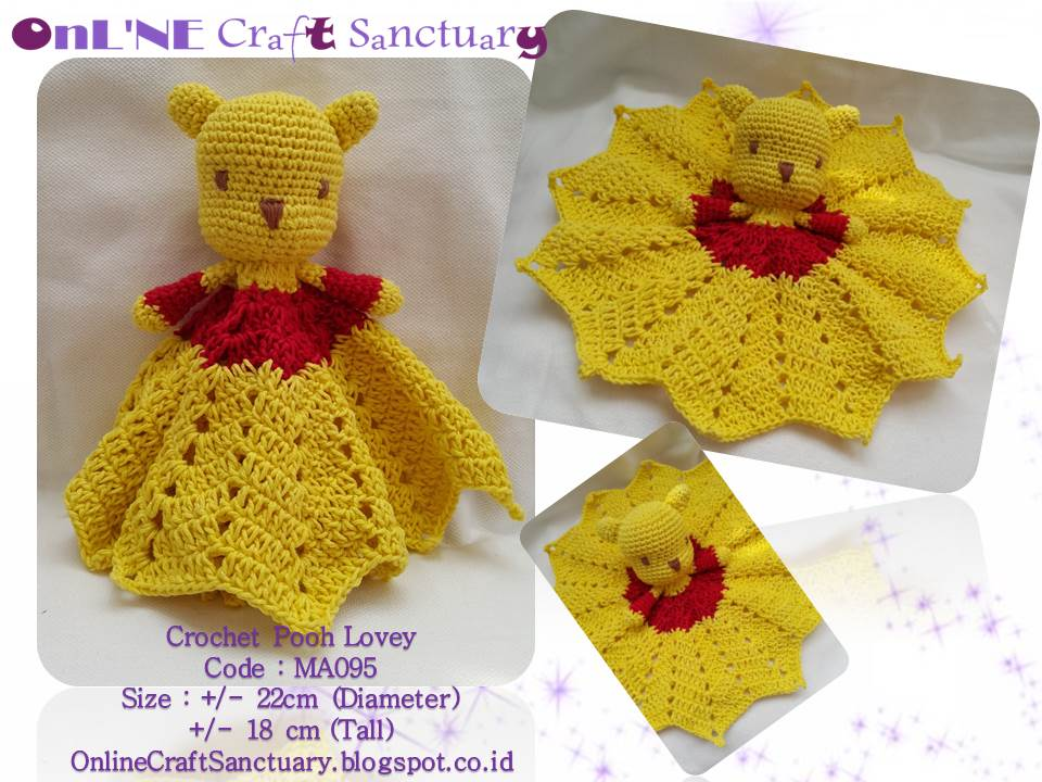 Online Craft Sanctuary Mini Pooh Lovey Free Pattern