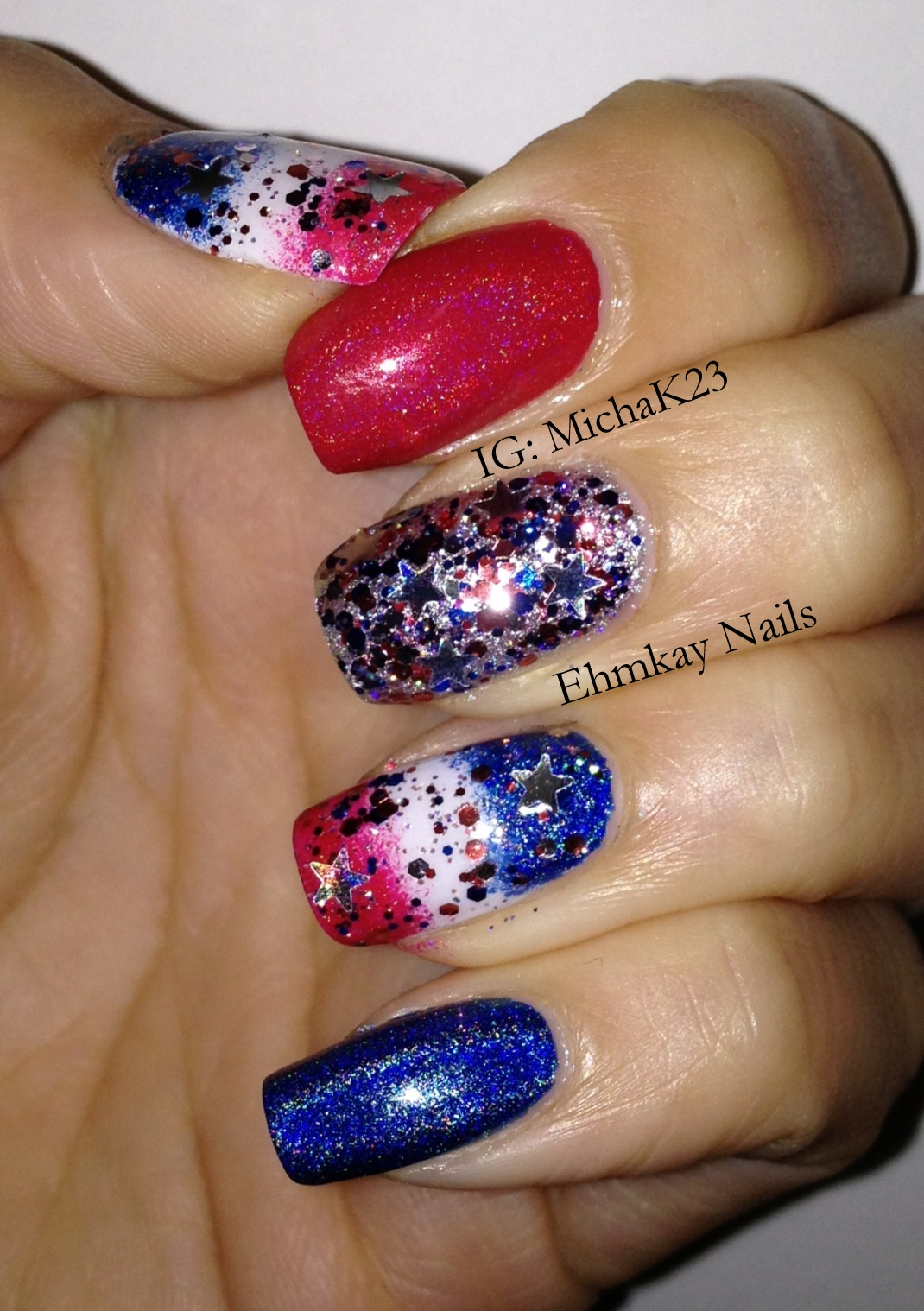 Ehmkay nails happy fourth of july quick patriotic nail art patriotic fourth of july nail art prinsesfo Gallery