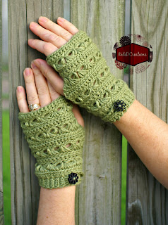 Broomstick Lace Fingerless Gloves by KatiDCreations