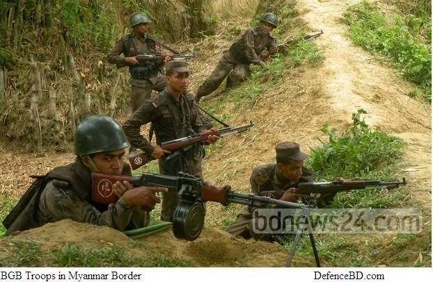BGB troops in Myanmar Border