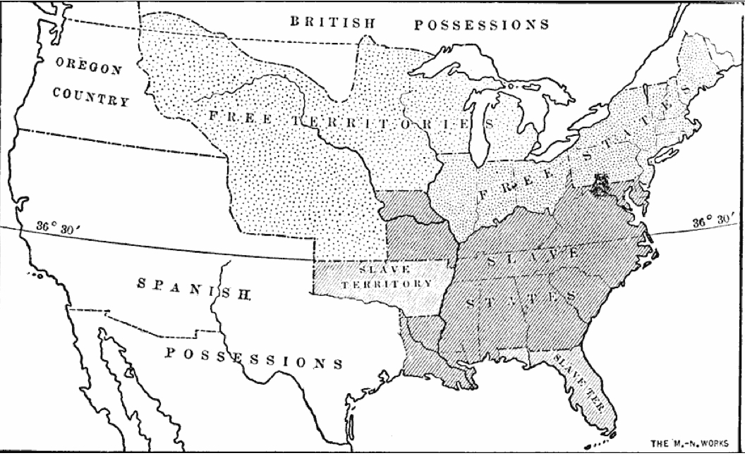 NephiCode The United States As The Land Of Promise Part I - Map of us in 1823