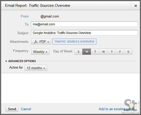 Schedule Google Analytics to Email Website Performance Report