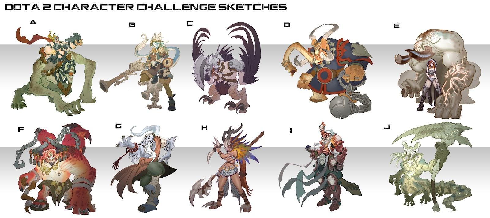 Dota 2 Character Design Pdf : Rayph s art september
