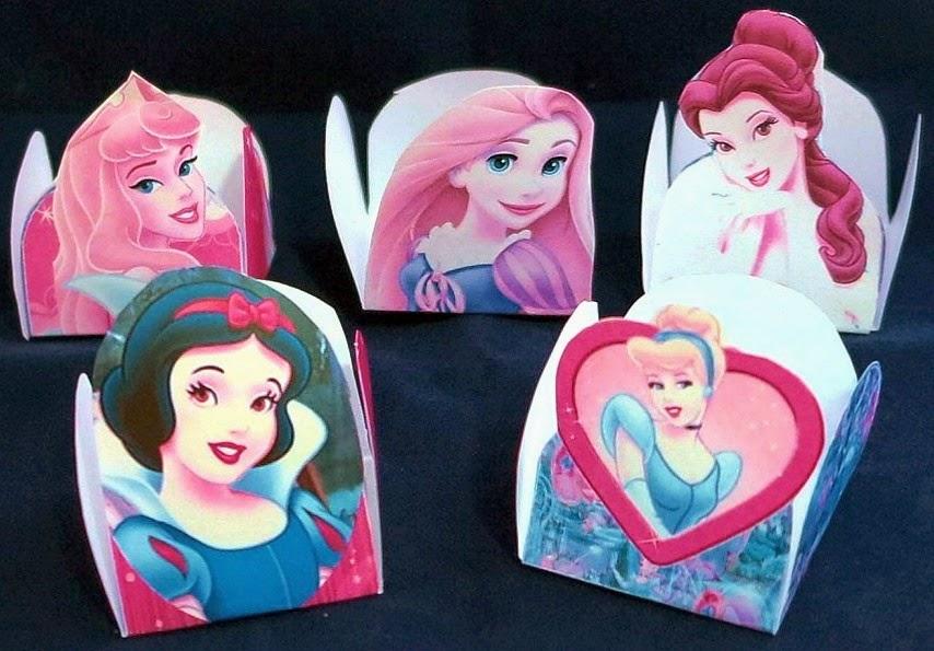 Cajas Abiertas de Princesas Disney para Imprimir Gratis.