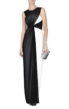 BCBG Black Evening Dress White