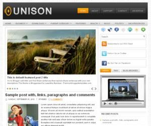 Unison Blogger Template