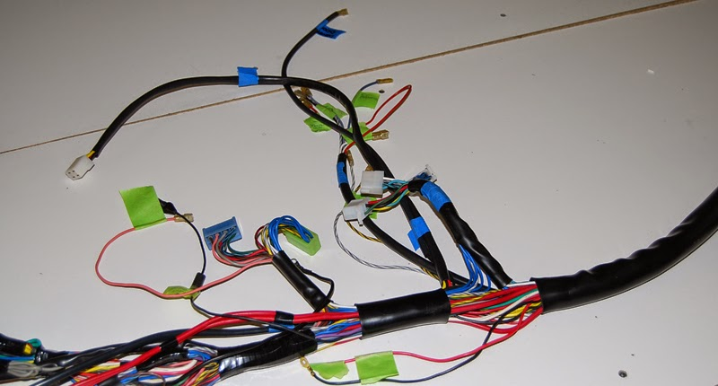 dino 246 restoration blog wires wires everywhere wiring harness originally the wire ends from ferrari were tinned and have a silver colour reproduction harnesses are