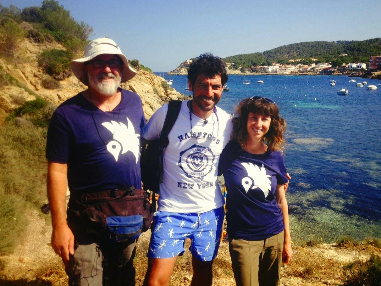 Foto de grupo: Manolo, Quico y Anita