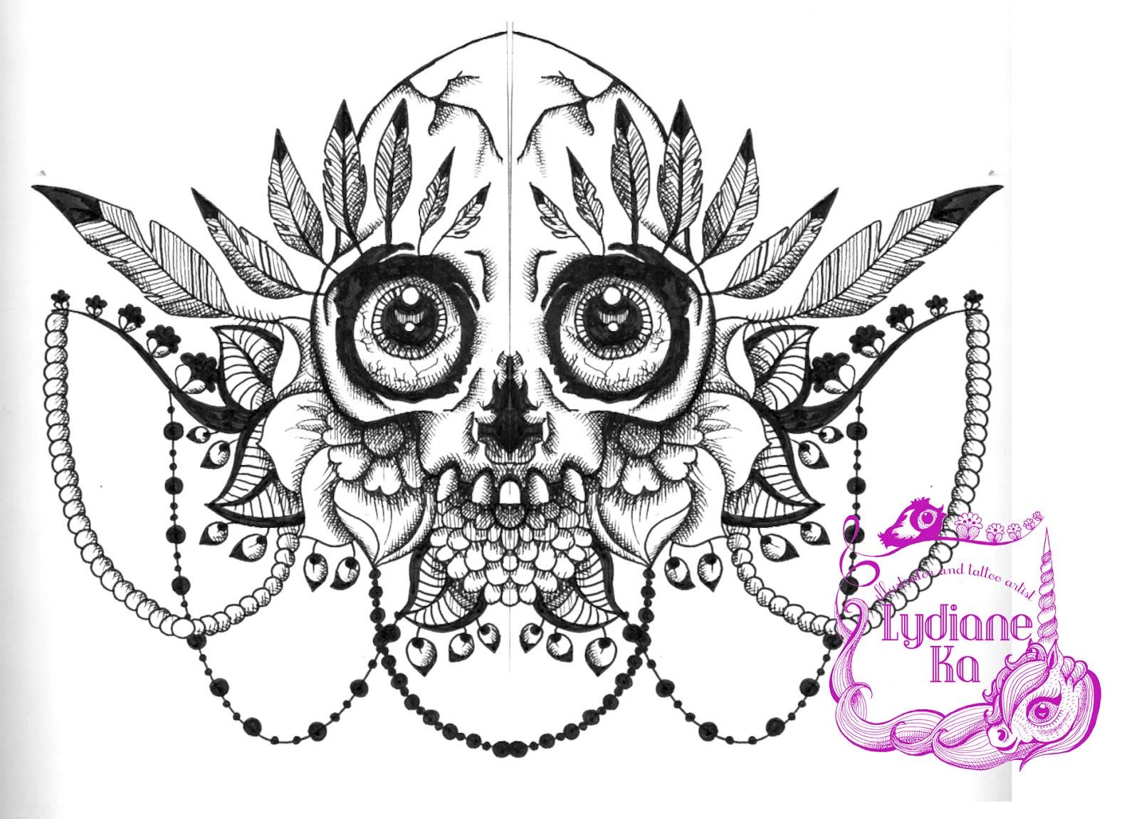dessin fleur pour tatouage - Tatouages 50 dessins fleuris pour un esprit Glamour
