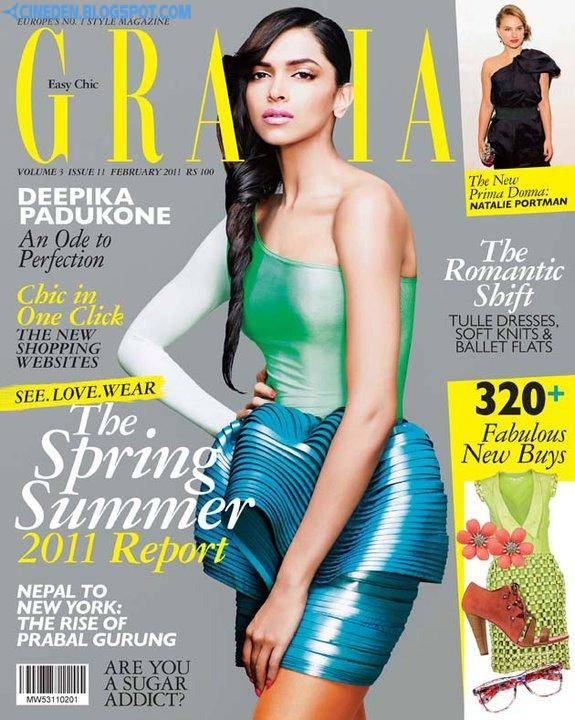 Deepika Padukone Hot photoshoot for Grazia magazine February 2011