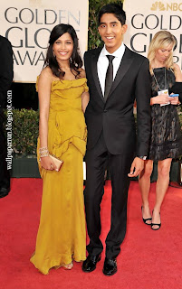 Freida Pinto and Dev Patel arrive at the 66th Annual Golden Globe Awards