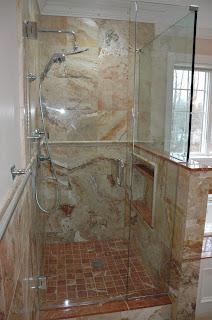 Custom Bathroom Remodeling 12x12 TravertineTile