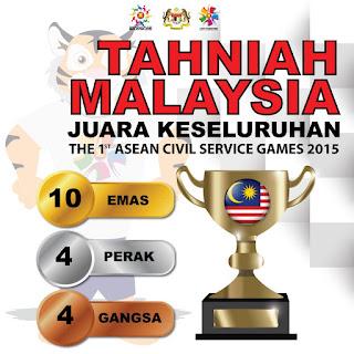 asean civil service games, asc games 2015, malaysia