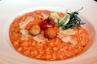 Stitch and Bear - Roast cherry tomato and goat's cheese risotto at the Box Tree
