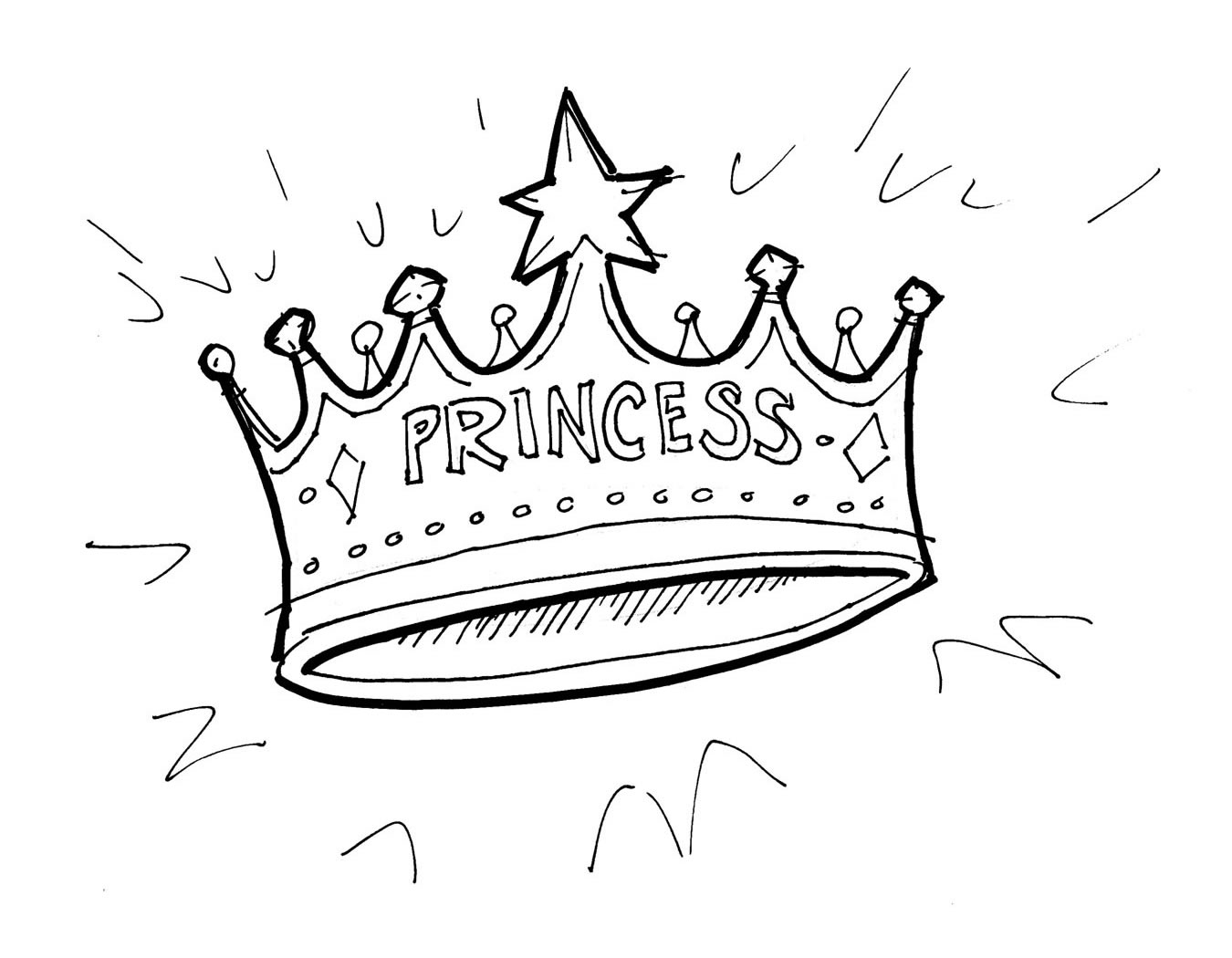 Free Crowns And Tiaras Coloring Pages Tiara Coloring Page
