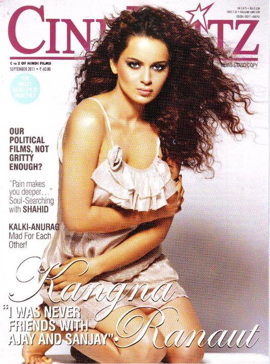 Kangana Ranaut - Kangana Ranaut on Cineblitz Magazine Cover India September Edition