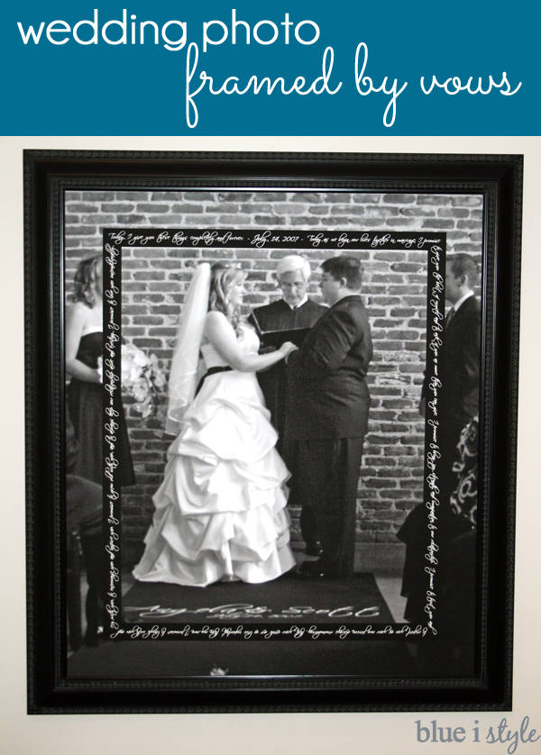 Wedding Photo Framed by Vows