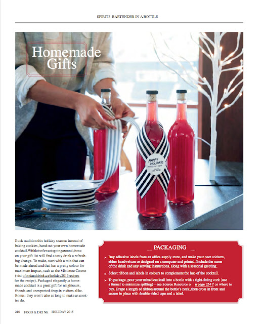 bartender in a bottle ideas by Corinna vanGerwen featured in Food & Drink magazine