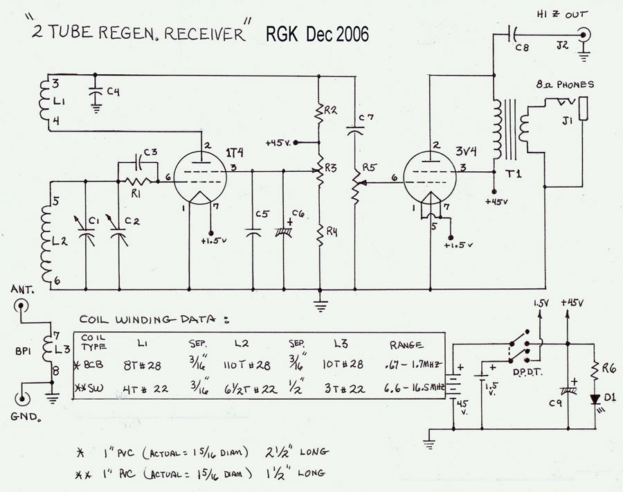 Shortwave Regenerative Receiver Schematic further Differential Pair Wiring Diagram moreover Shortwave Crystal Radio Set moreover 2015 07 01 archive further Radio Tube Transmitter Schematic. on one tube regenerative receiver schematics
