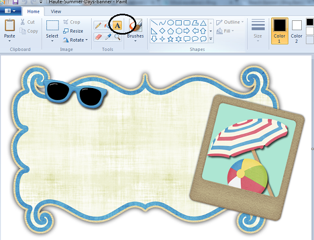 how to create header on open office