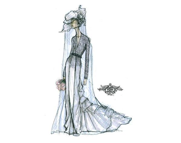 Croqui Maison : Vestidos de noiva croquis estilistas famosos