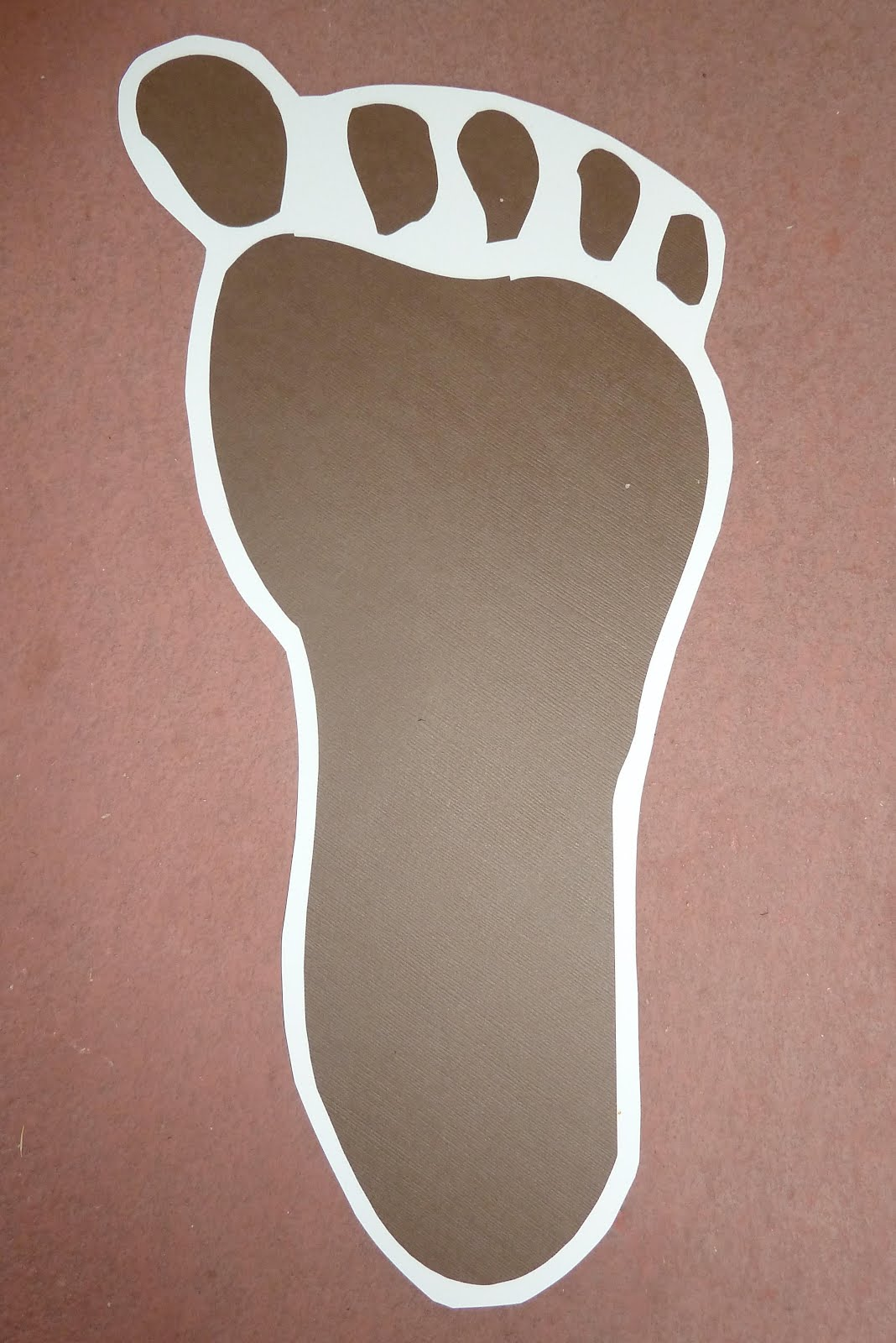 footprint cut out template - room mom extraordinaire bigfoot birthday party