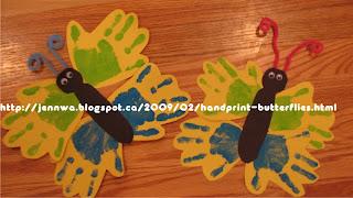 atividade sensorial borboletinhas de mãos