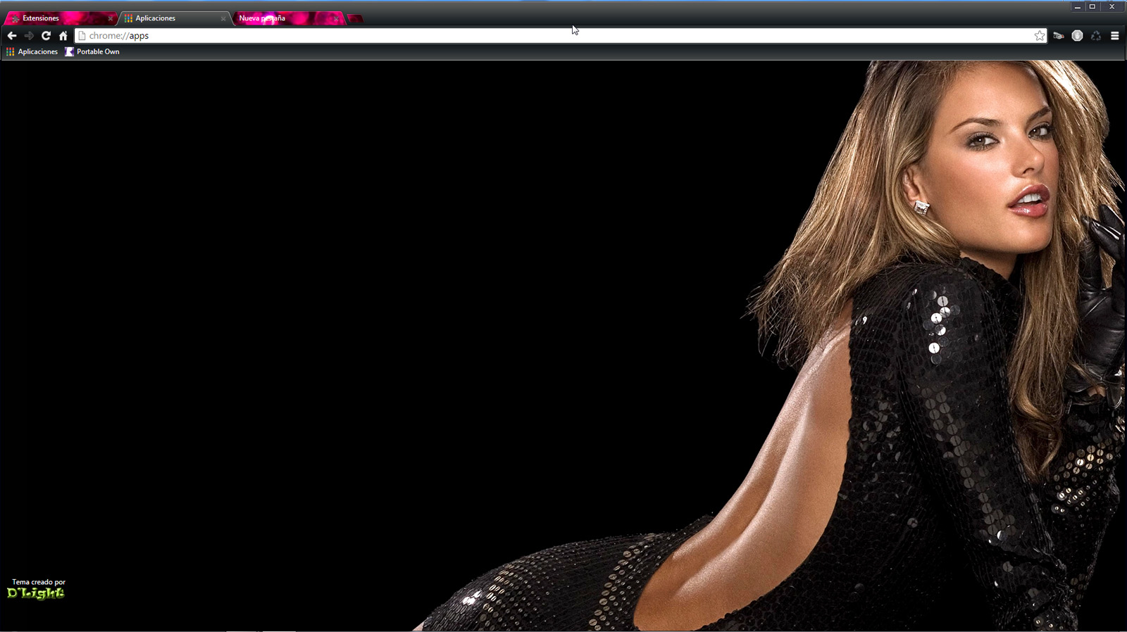 Google theme resolution - Alessandra Ambrosio A Theme For Google Chrome Hd 1920x1200 And 2560x1600 Pixels