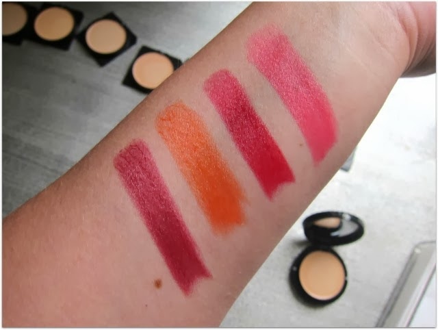 Giorgio Armani Rouge Ecstasy Lipstick Swatches