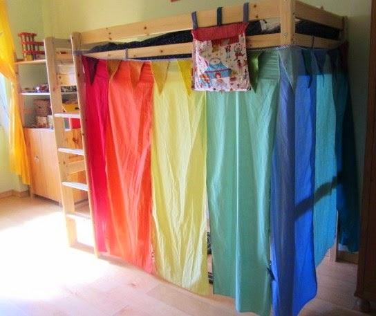 tenda per letto