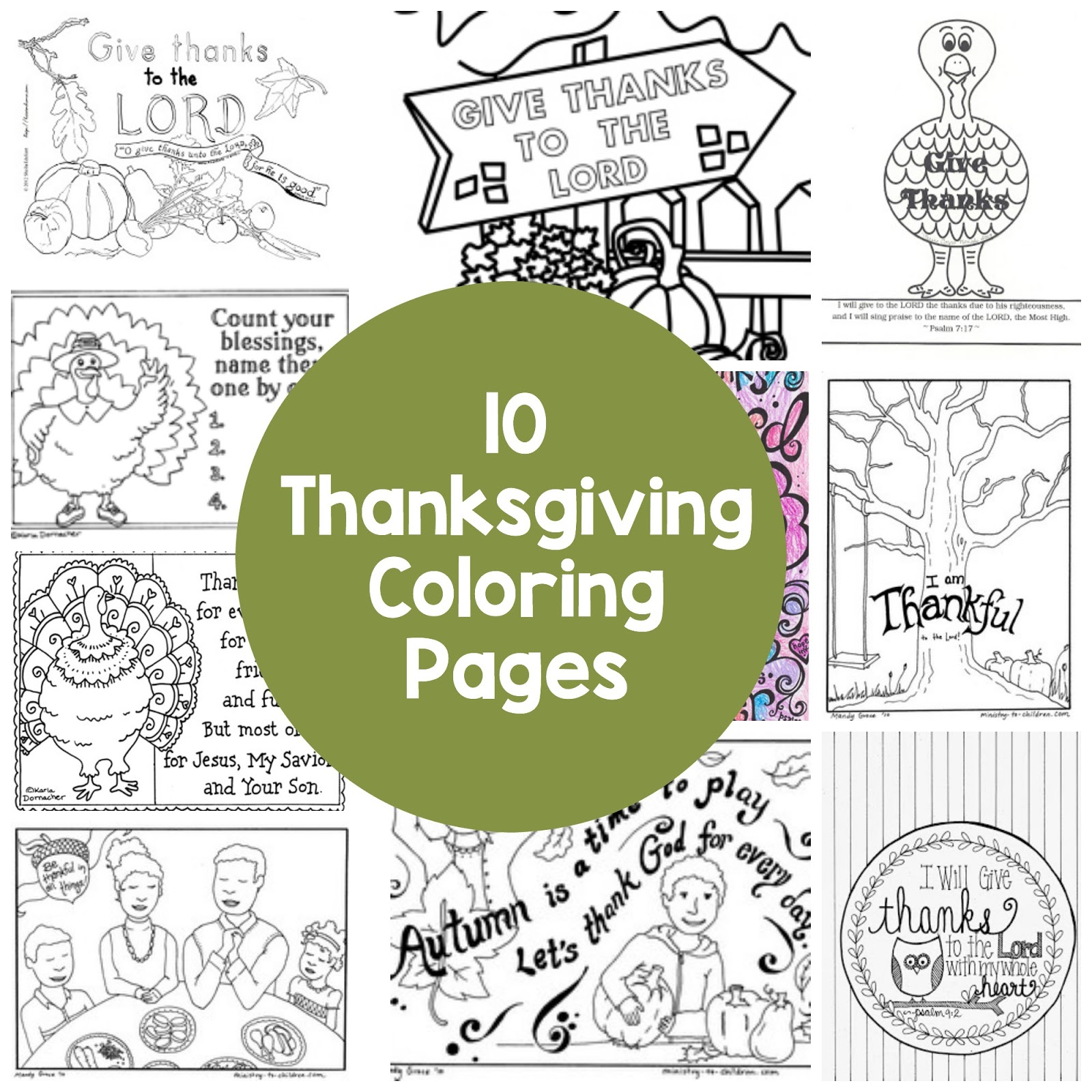 10 Thanksgiving Coloring Pages - Short and Sweet | Humble Hearts