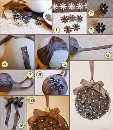 Dicas de como fazer bolas de natal criativas para arvore