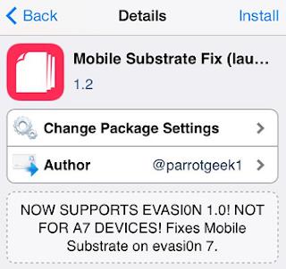 Tutorial Memperbaiki Masalah Mobile Substrate Pada iOS 7