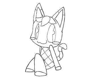 #4 Animal Crossing Coloring Page