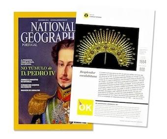 Colaboração na National Geographic de Novembro com artigo sobre resplendor escalabitano
