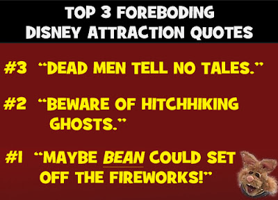 Top three Disney Park Attraction quotes Bean Bunny Muppetvision