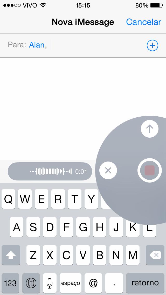 Mensagens de aúdio iOS 8