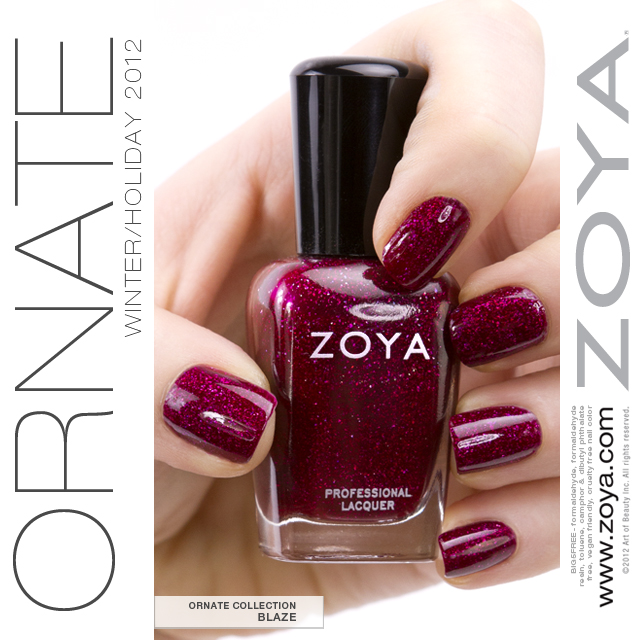The Six NEW Glam Shades From Holiday 2012 2013 Zoya Ornate Collection Are Perfect For Decorating Your Nails This Season Featuring Stunning Jewel Tone