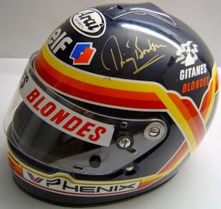 Colori belgi sul casco di Thierry Boutsen