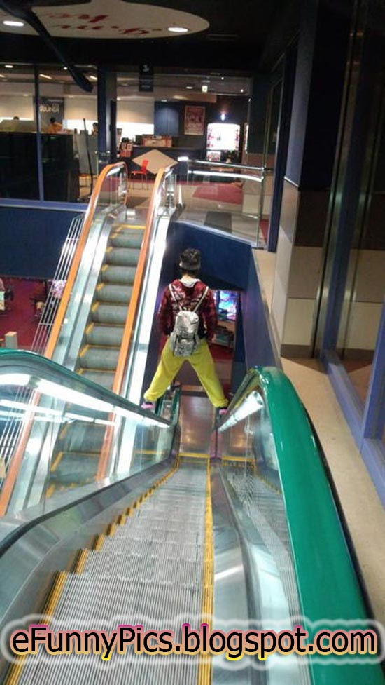 Down the Escalator Like a Boss
