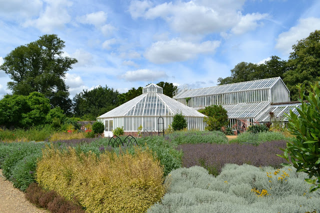 Glass houses in the walled garden