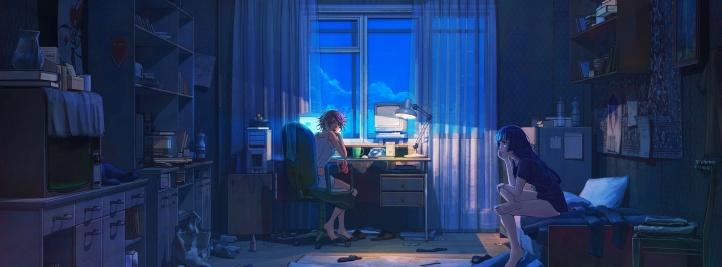 Chambre La Nuit : Une chambre de fille la nuit photo couverture facebook
