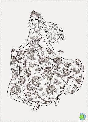 Dinokids - Desenhos para colorir: Desenhos da Barbie a Princesa e a