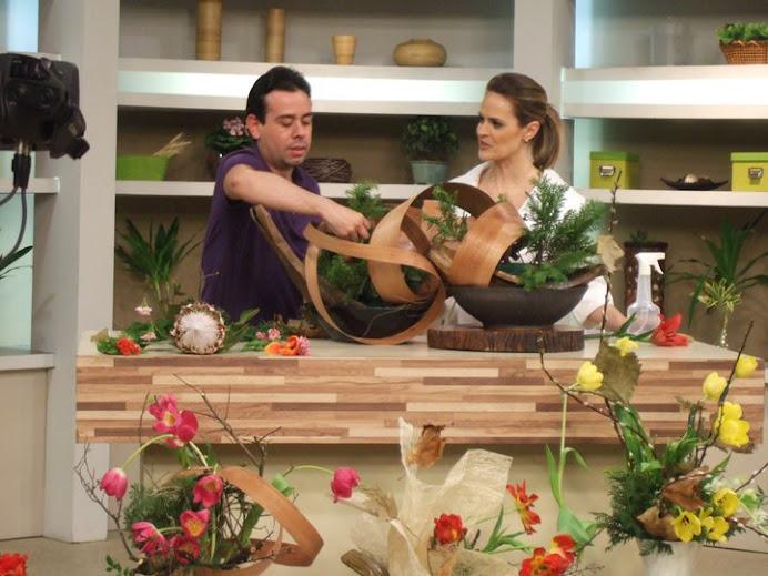 "TV GAZETA PROGRAMA ""MULHERES."" IKEBANA DE INVERNO."