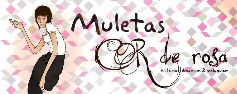 Muletas Cor-De-Rosa
