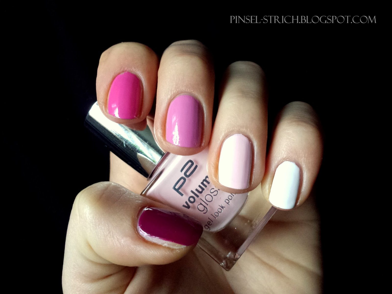 Pinselstrich Ombre Nails In Rosa