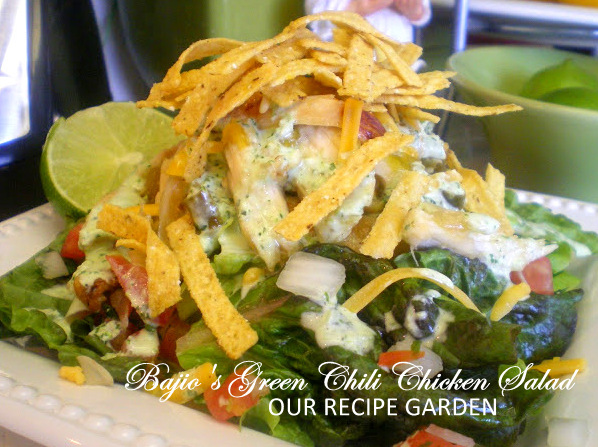 Bajios Green Chili Chicken Salad