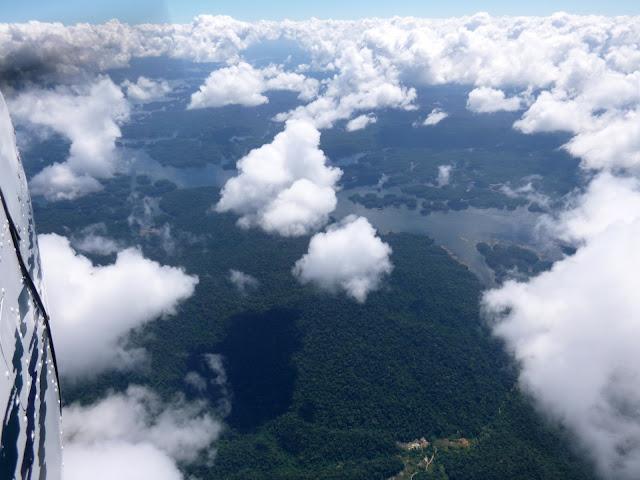 Fying over Guyana
