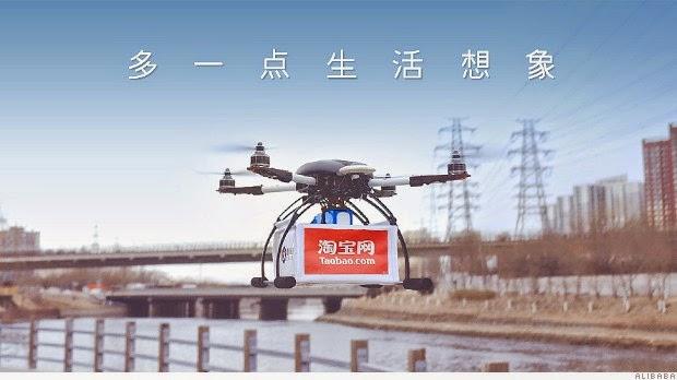 Alibaba Mulai Gunakan Drone Untuk Mengirim Pesanan